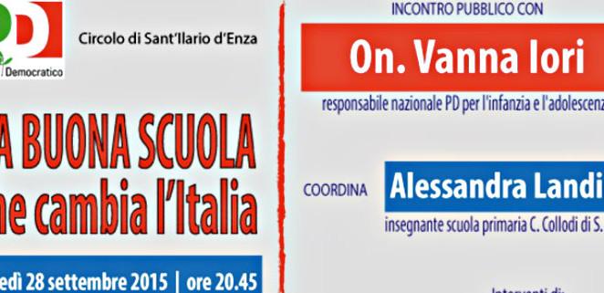 """Lunedì 28 settembre al centro Mavarta di S. Ilario """"La Buona Scuola che cambia l'Italia"""""""