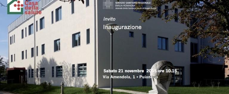 Sabato 21 novembre all'inaugurazione della nuova Casa della salute di Puianello