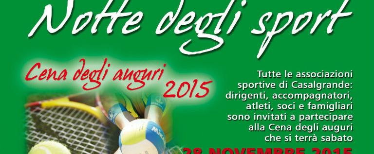 """Sabato 28 novembre al bocciodromo di Casalgrande l'ottava """"Notte degli sport"""""""