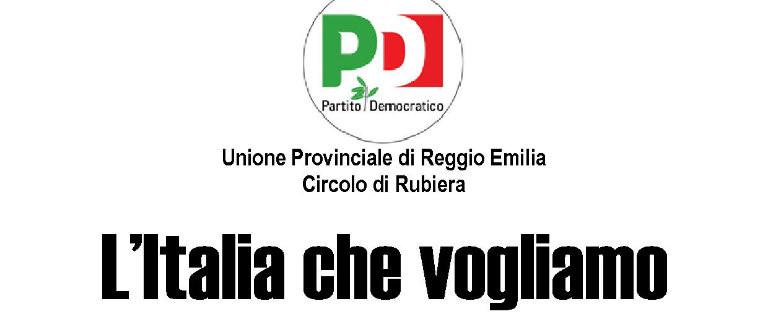 """Venerdì 6 novembre a Rubiera all'incontro pubblico """"L'Italia che vogliamo – Giustizia, scuola, sociale"""""""