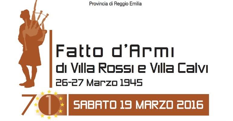 Sabato 19 marzo ad Albinea per la 71a commemorazione del fatto d'armi di Villa Rossi e Villa Calvi