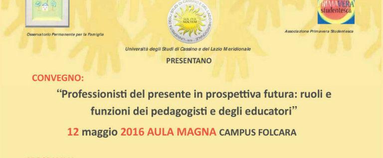 """Giovedì 12 maggio in collegamento via Skype con l'Università di Cassino per """"Professionisti del presente in prospettiva futura"""""""