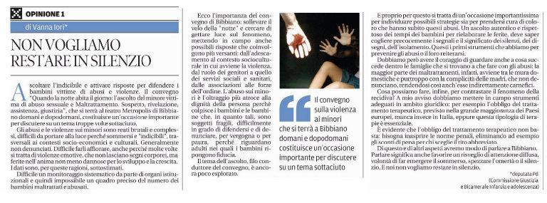 non_vogliamo_restare_in_silenzio_vanna_iori_gazzetta_reggio_bl