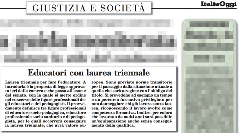 italia_oggi_legge_educatori_pedagogisti_22_giugno_2016_vanna_iori_bl