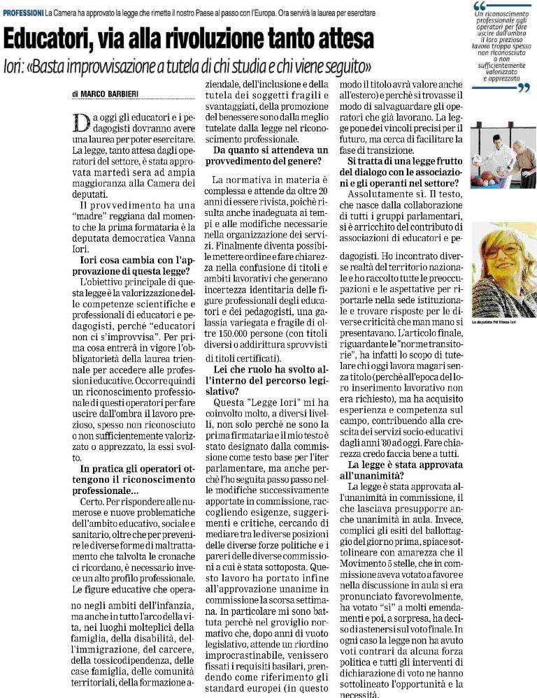 vanna_iori_prima_pagina_reggio_educatori_23_giugno_2016_bl
