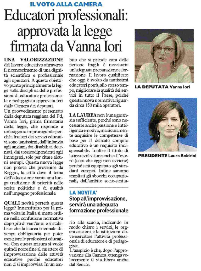 vanna_iori_resto_del_carlino_educatori_professionali_23_giugno_2016_bl