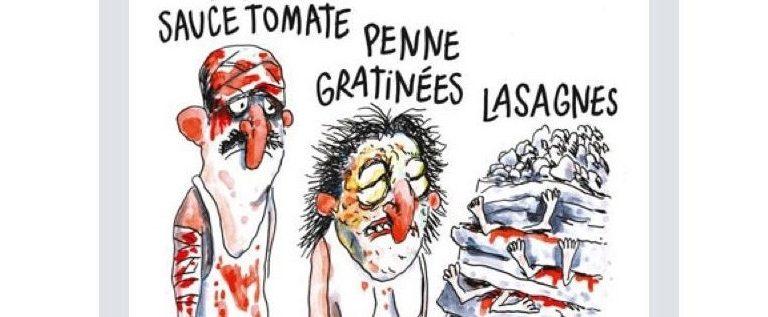 La vignetta di Charlie Hebdo sul terremoto in centro Italia è lugubre e indegna