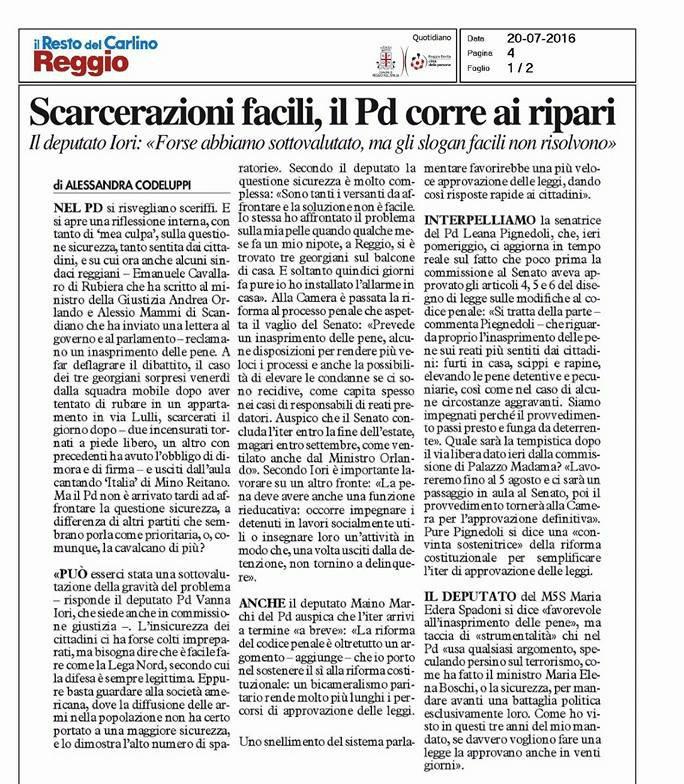 gazzetta_reggio_intervista_vanna_iori_scarcerazioni_facili_bl
