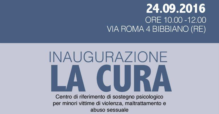 Sabato 24 settembre a Bibbiano per l'inaugurazione del centro di sostegno per minori La Cura