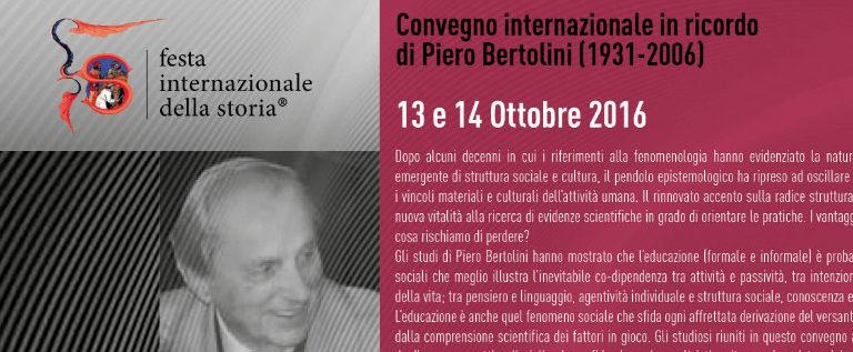 Venerdì 14 ottobre a Bologna al convegno dedicato al mio maestro Piero Bertolini