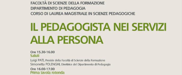 """Lunedì 24 ottobre a Milano per il convegno """"Il pedagogista nei servizi alla persona"""""""
