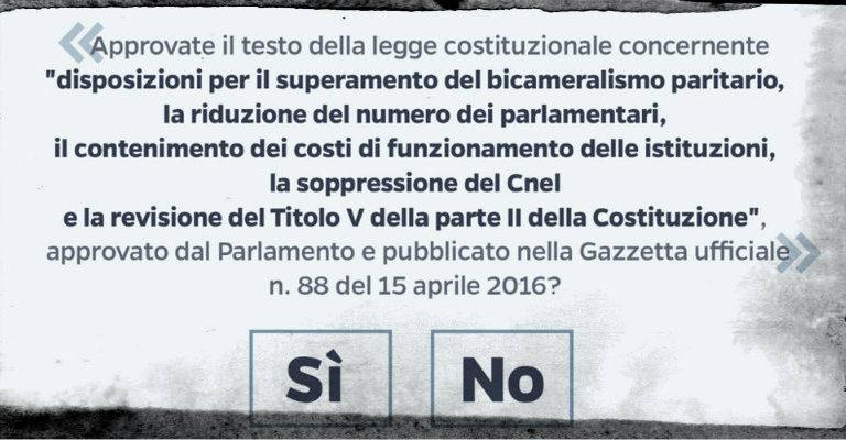"""Venerdì 21 ottobre a Cadelbosco per le ragioni del """"sì"""" al referendum"""