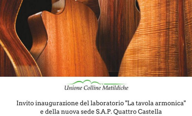 """Sabato 3 dicembre a Quattro Castella per l'inaugurazione del laboratorio """"La tavola armonica"""""""