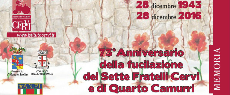 Martedì 28 dicembre a Reggio alla commemorazione dei fratelli Cervi e di Quarto Camurri