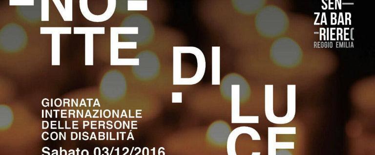 """Sabato 3 dicembre a Reggio per partecipare all'evento """"Notte di Luce"""""""