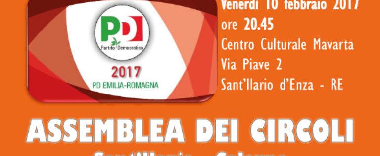 Venerdì 10 febbraio a Sant'Ilario d'Enza per la campagna di ascolto del Pd di Reggio Emilia