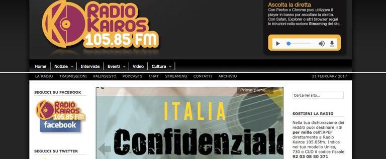 Martedì 21 febbraio in diretta su Radio Kairos per fare chiarezza sul mio ddl 2443