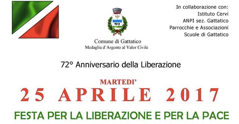 Martedì 25 aprile a Gattatico per il 72° anniversario della Liberazione