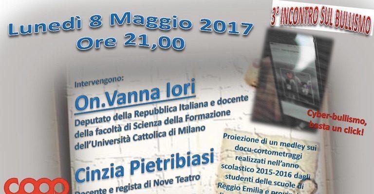 """Lunedì 8 maggio a Bagnolo per l'incontro """"Cyber-bullismo, basta un click!"""""""