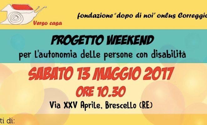 """Sabato 13 maggio a Brescello per presentare il """"Progetto Weekend"""""""