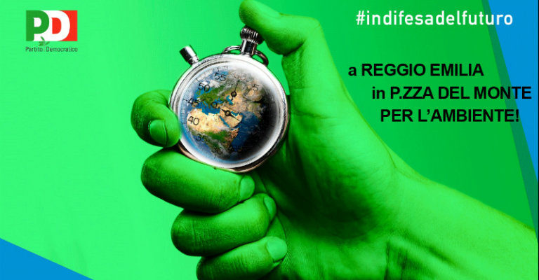 Martedì 6 giugno in piazza del Monte a Reggio per la fiaccolata Pd a difesa dell'ambiente