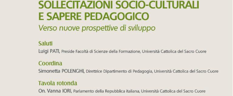 """Giovedì 19 giugno a Milano per il seminario """"Sollecitazioni socio-culturali e sapere pedagogico"""""""