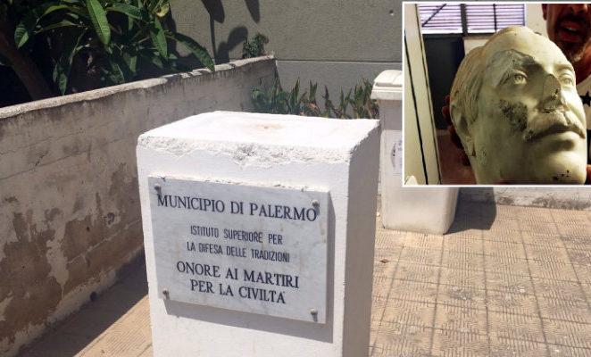 L'assalto alla statua di Falcone a Palermo è un atto di vigliaccheria indegna