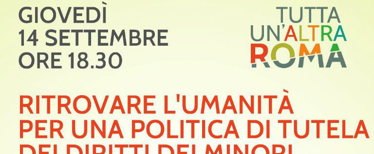 """Giovedì 14 settembre alla Festa dell'Unità di Roma per """"Ritrovare l'umanità"""""""