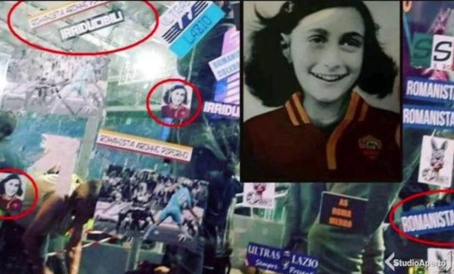Gli adesivi antisemiti con Anna Frank sono ignobili: il neofascismo stia fuori dagli stadi
