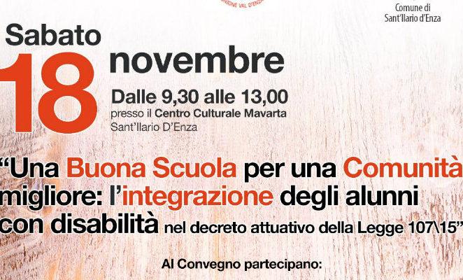 """Sabato 18 novembre a Sant'Ilario per """"Una Buona Scuola per una comunità migliore"""""""