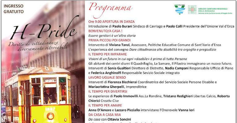 """Sabato 2 dicembre a Cavriago per """"H-Pride. Diritti di cittadinanza diversamente ritrovabili"""""""