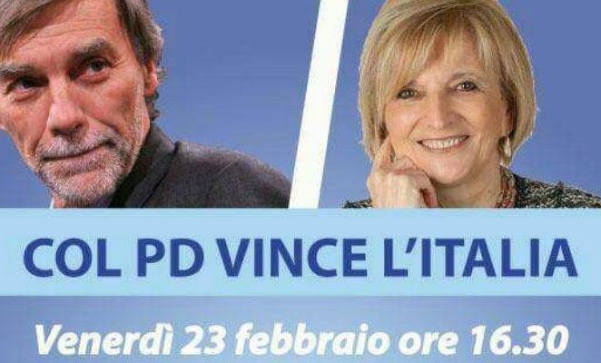 """Venerdì 23 febbraio a Reggio con Delrio per """"Col Pd vince l'Italia"""""""