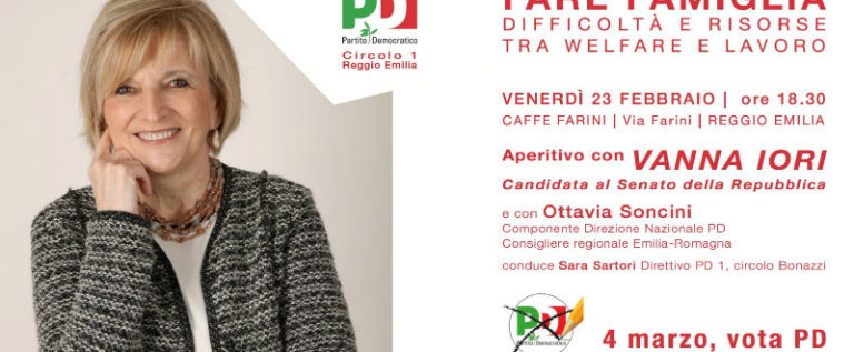 """Venerdì 23 febbraio a Reggio per l'incontro-aperitivo """"Fare famiglia"""""""