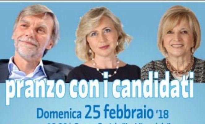 Domenica 25 febbraio al centro sociale la Mirandola di Reggio Emilia per il pranzo con i candidati