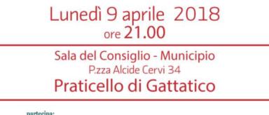 lunedì 9 aprile: Assemblea di Circolo a Praticello di Gattatico
