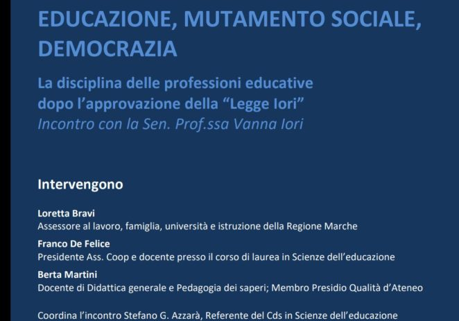 24 maggio – Educazione, mutamento sociale, democrazia