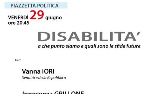 29 giugno – Disabilità a che punto siamo e quali le sfide future