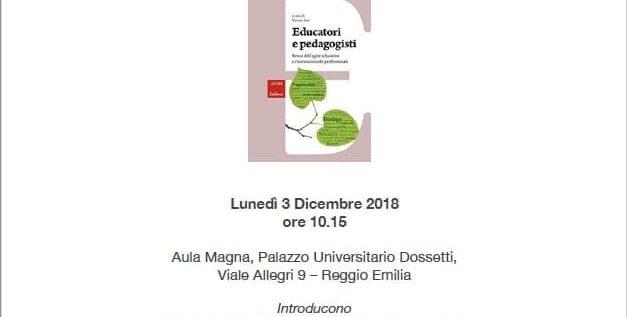 3 Dicembre – Presentazione del volume educatori e pedagogisti