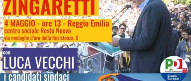 4 Maggio – Nicola Zingaretti a Reggio Emilia