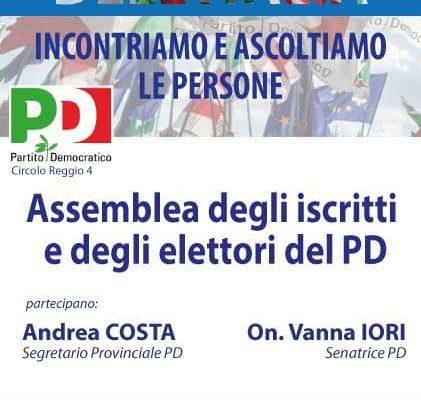 27 settembre – Assemblea degli iscritti e degli elettori del Pd