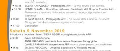 """9 Novembre – Convegno nazionale """"La Pedagogia va a scuola"""""""