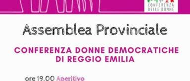 9 luglio – Assemblea provinciale della Conferenza Donne Democratiche di Reggio Emilia