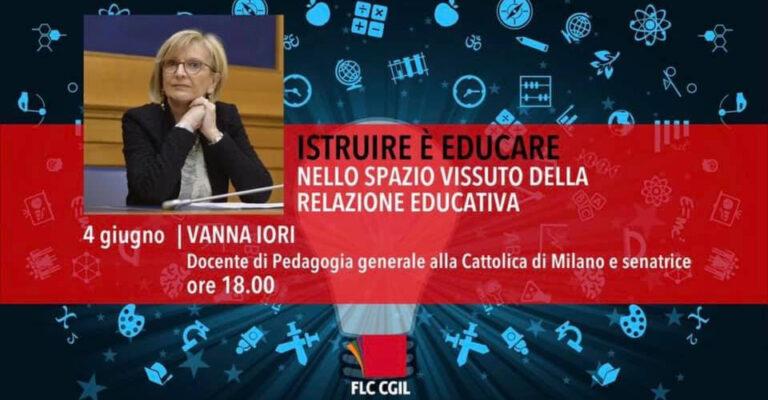 4 giugno – Lectio magistralis: Istruire è educare. Nello spazio vissuto della relazione educativa