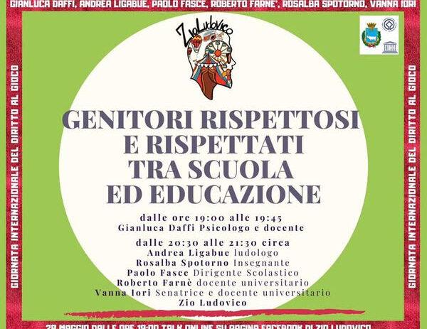 28 maggio – Genitori rispettosi e rispettati tra scuola e educazione